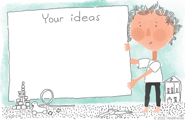 Charlie at a whiteboard invites you to add your ideas